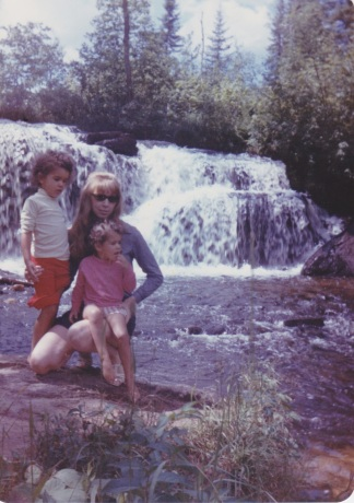 Revell River taken on a second cross Canada trip in 1972. This time The bump under Deanne' s blouse is nearly 3 years old.s