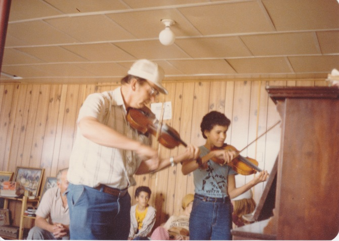 Bill and Allison play Violin Duet