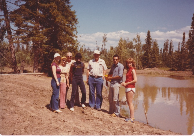 Bill, Eleanor and Johnny with Deanne and Garry at Pheasant Lake, July 1980