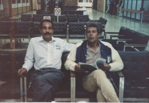 Keith and Garry at Prince George Airport, 1988