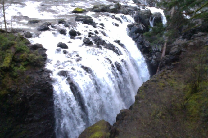 Englishman's Falls near Parksville, Vancouver Island