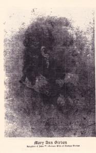 Mary Ann Girvan,  Daughter of John #1 Girvan, (1841-1882)