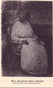 Annie Girvan, Daughter of John Thomas (Jack) Girvan