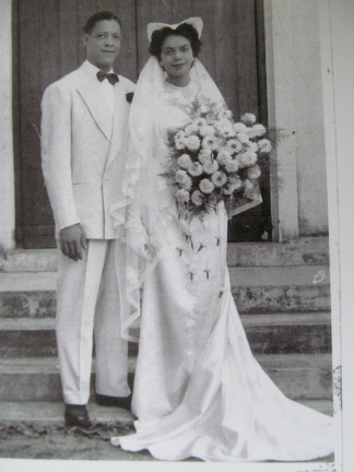 Wedding of Herbert Fitzroy Crosbie and Beryl Cynthia Girvan, April 27, 1948 in Kingston, Jamaica