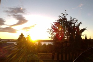 The Beautiful Dawn of a New Day:Sunrise Over the Salish Sea from Walker Ave. Site of Anna's Former Home in Ladysmith B.C.