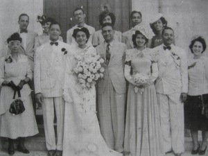 Wedding of Beryl Girvan to Herbert Crosbie, Kingston Ja. 1948