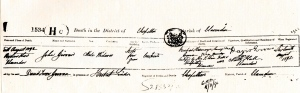 Death Cert. for the First John Girvan 1892
