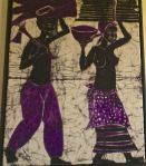 Batik: Woman and Man Harvesting: Anonymous African Ancestors: See post scriptum below.